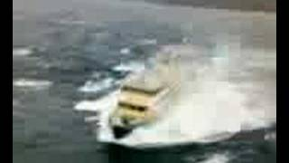Manly Ferry punches through massive wave