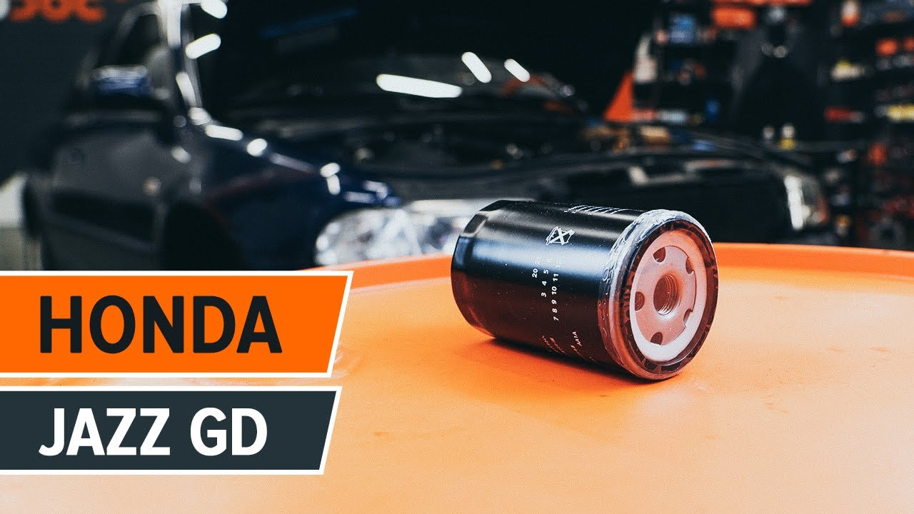 how to replace engine oil and oil filter on honda jazz gd tutorial autodoc [ 1280 x 720 Pixel ]