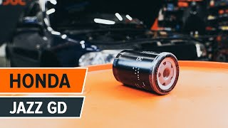 How to change Oil Filter on HONDA JAZZ II (GD) - online free video