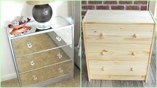 DIY | Mirrored Nightstands (IKEA HACK!!!)(Hey Loves! In the video I will share how to make your own Mirrored Nightstands! W H A T   Y O U ' L L    N E E D: Nightstand or IKEA Rast Chest Mirrored Glass ..., 2016-02-18T00:00:00.000Z)