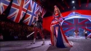 Taylor swift shares the stage with fall out boy at 2013 victoria's secret fashion show lexington avenue armory on november 13, in new york city. ...