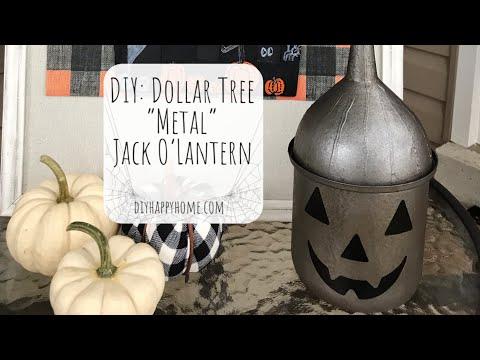 """DIY: Dollar Tree """"Metal"""" Jack O'Lantern"""