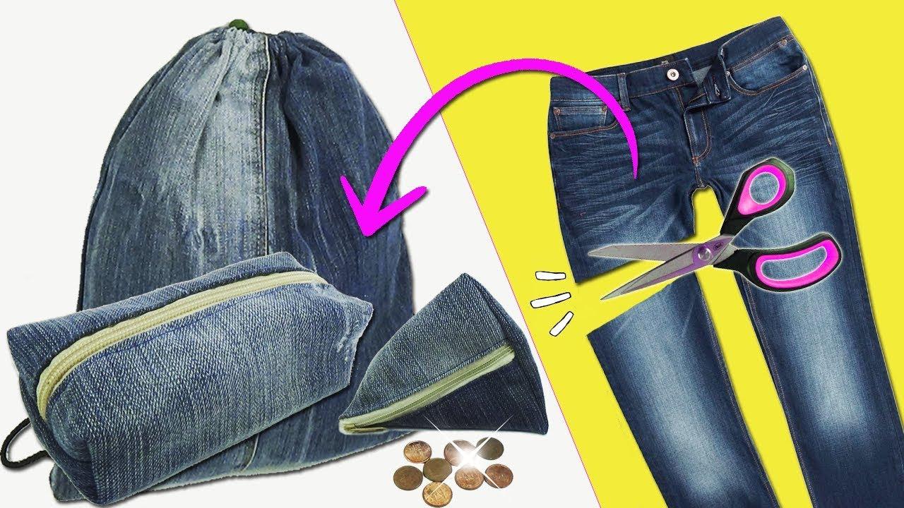 48ef94c888 Como reciclar pantalón Jeans o Vaqueros 3 Ideas - Ecobrisa - YouTube