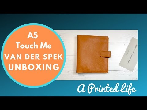 Van Der Spek A5 Touch Me Planner : Unboxing & First Impressions