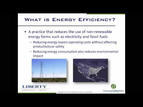 The Value of Energy Efficiency for Industrial/Warehouse Buildings Webinar June 26, 2013