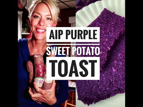 AIP Purple Sweet Potato Toast