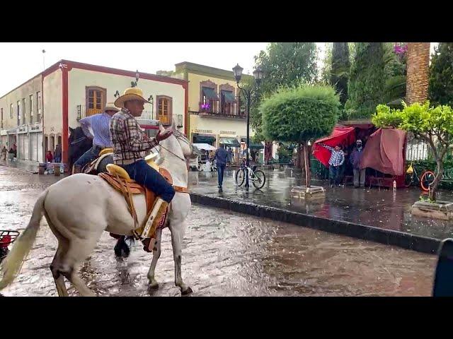 Llegó con ganas la lluvia en Jerez Zacatecas