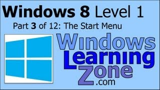 Microsoft Windows 8 Tutorial Part 03 of 12: The Start Menu