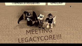 Meeting LegacyCore!!! [Roblox Sword Fighting Simulator]