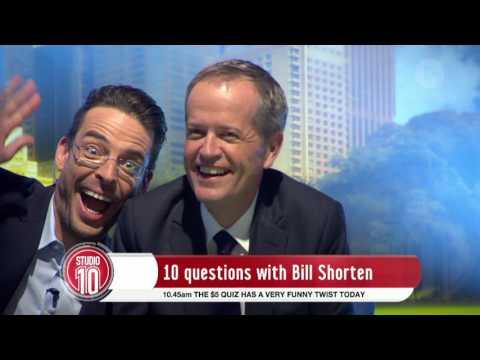 Studio 10's Ten Questions For Bill Shorten...