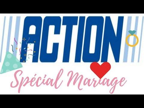 SHOPPING ACTION DÉCO TOUT POUR LE MARIAGE TABLE VAISSELLE FÊTE # JUIN