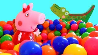 Peppa Pig Game | Crocodile Hiding In Peppa Pig Toys Family Home Playset