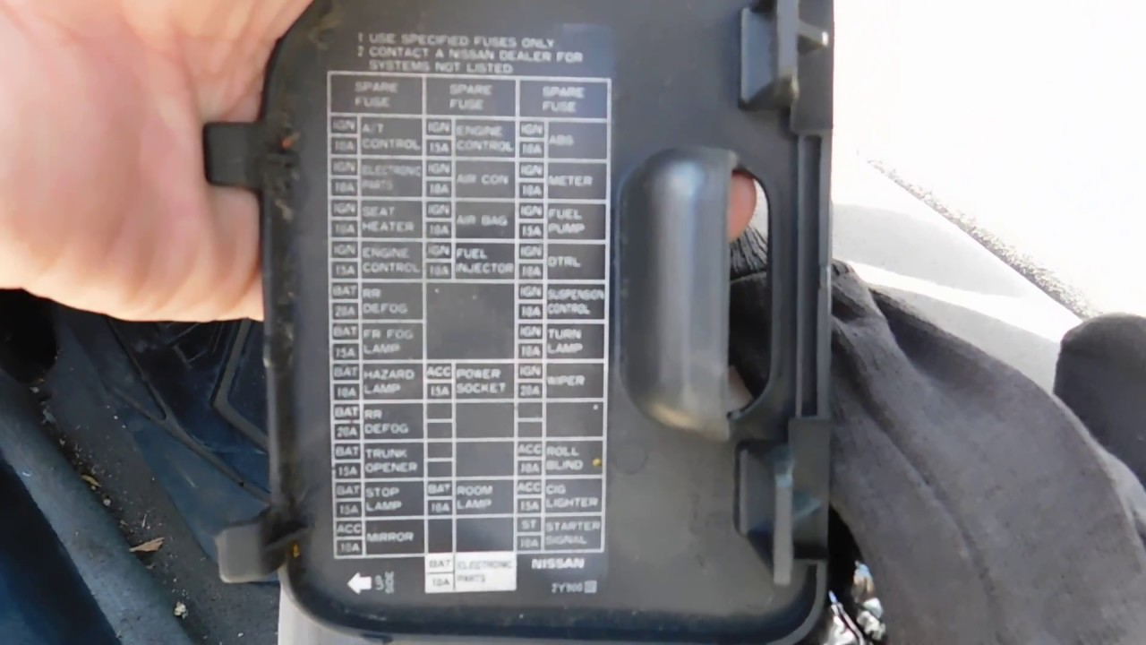 nissan sentra 94 fuse box nissan sentra fuse box location and diagram - youtube nissan sentra 2002 fuse box map