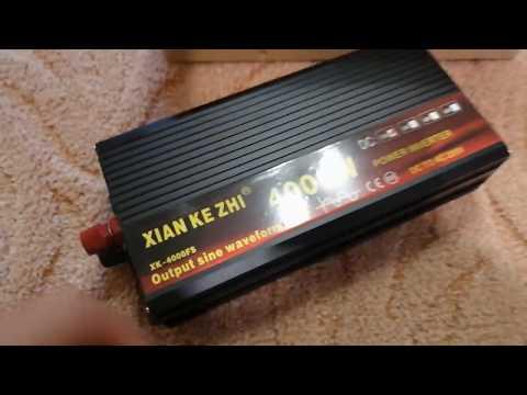 Обзор инвертора с Али 12 на 220 до 4 кВт, чистый синус