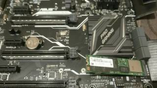 How to Install M.2 ssd solid state hard drive on Asus z170 pro motherboard