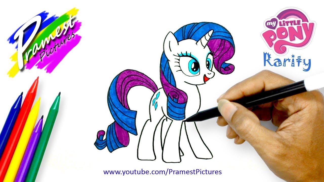 Rarity Cara Menggambar Dan Mewarnai Gambar Kuda Poni Untuk Anak Youtube