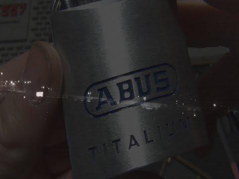 Взлом отмычками ABUS 80TI/50  (171) Abus 80TI/50 Single Pin Picked ()