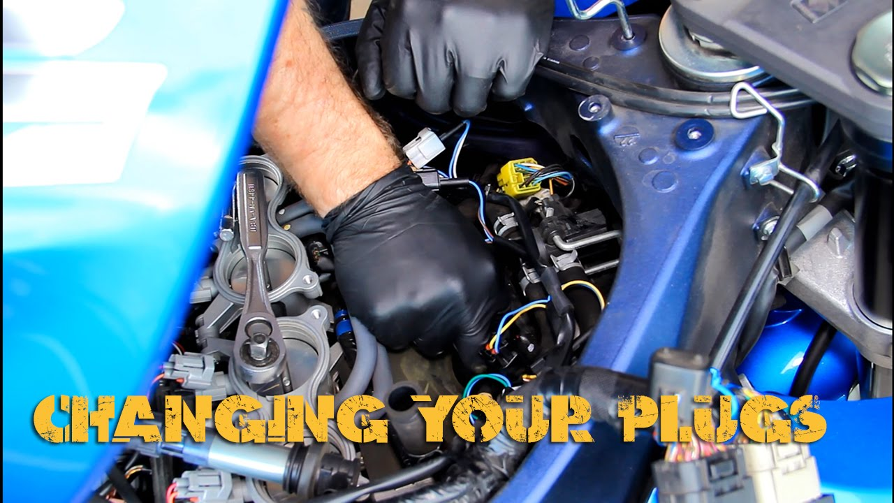 When To Change Spark Plugs >> Changing Spark Plugs On Your Sport Bike (GSXR) - YouTube