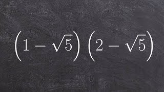 Learn to Multiply Tẁo Binomial Radical Expressions Using Foil