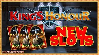 MUST SEE! NEW SLOTS ! King's Honour & WOOP WOOP FOBT ACTION!
