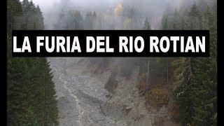 Dimaro - Rio Rotian le briglie di contenimento distrutte