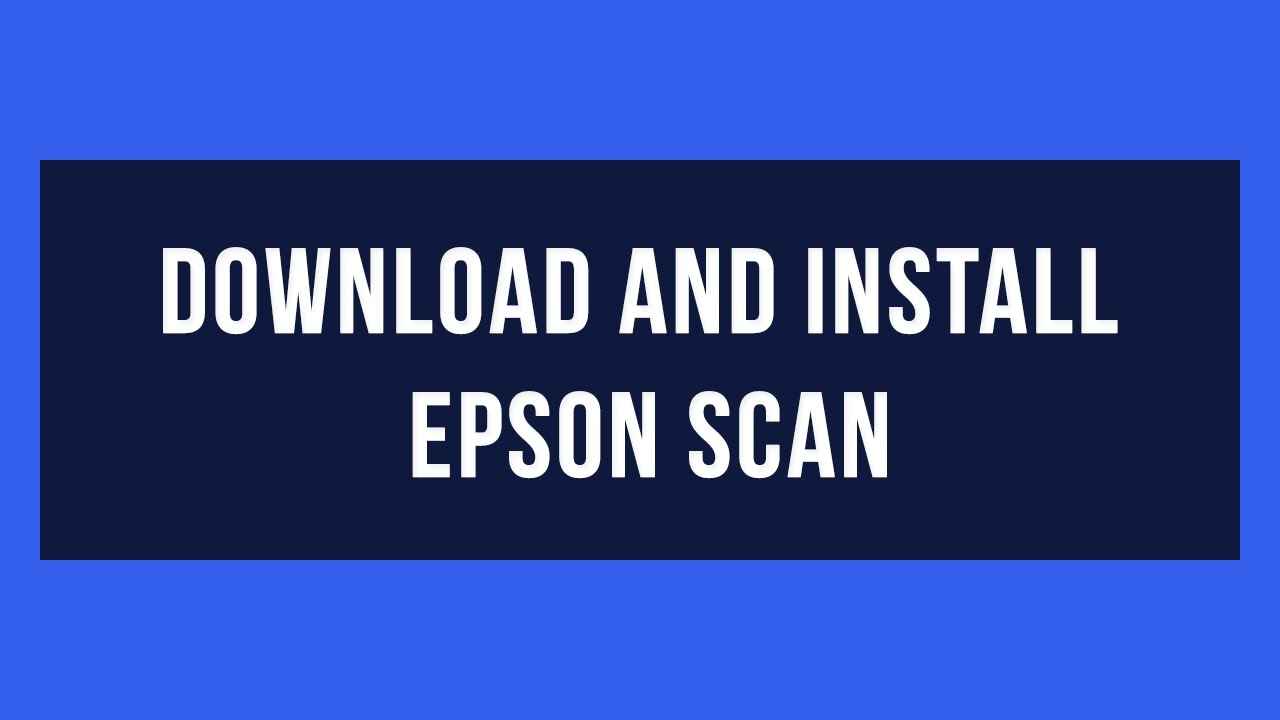 epson scan 2 download software