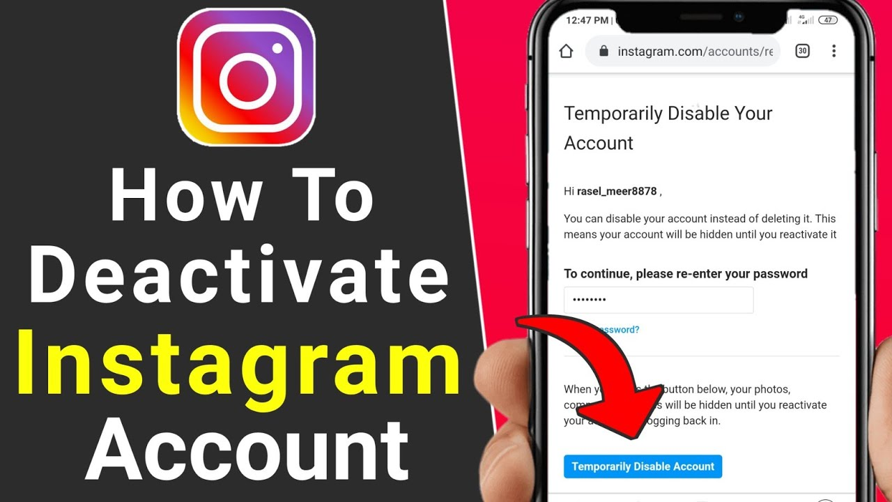 How to Deactivate Instagram Account - 13 (IPhone and Android