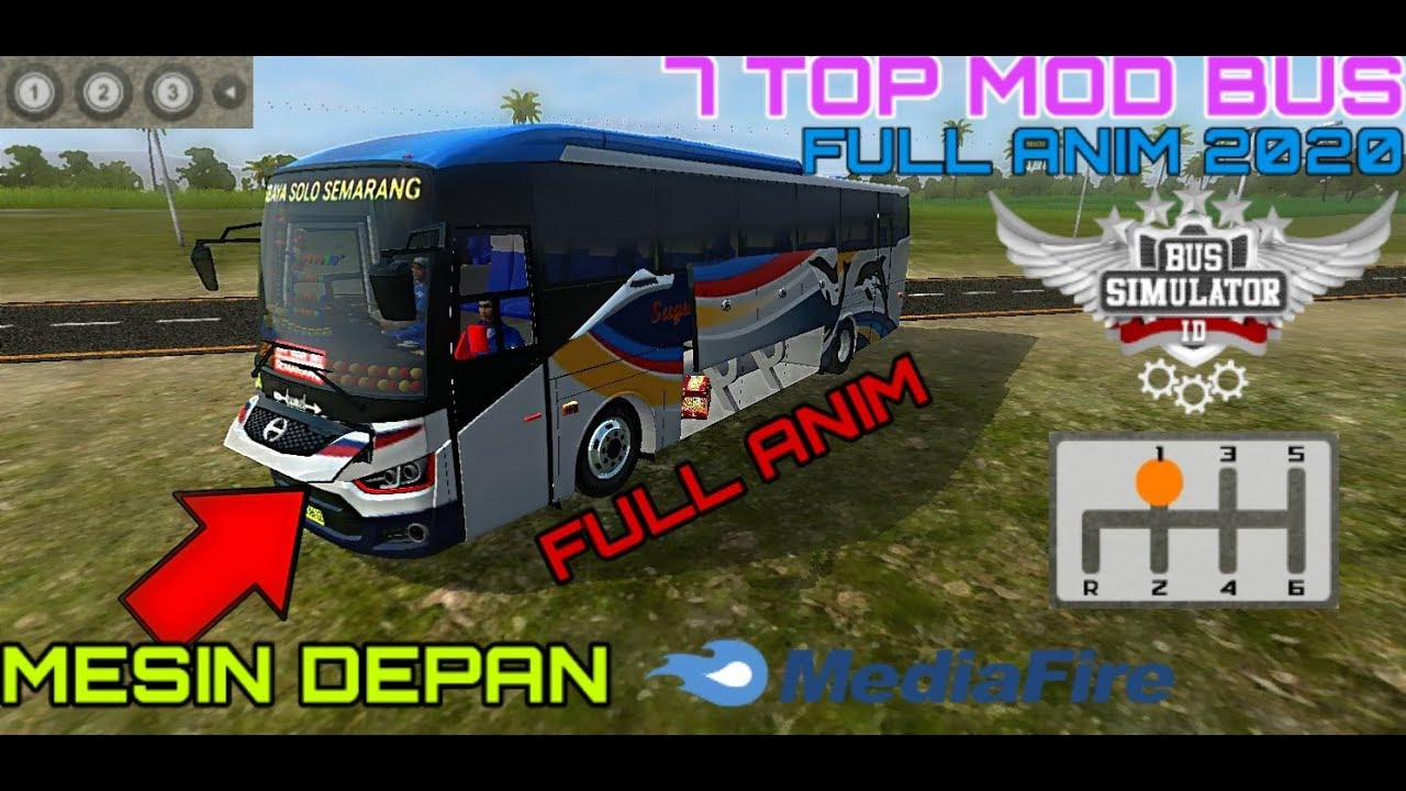 7 Top bus full anim terbaru || full anim 2020 || Mod bus Terbaru