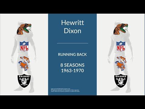 Hewritt Dixon: Football Running Back