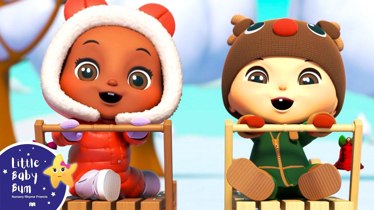 Jingle Bells - Fun in the Snow! | Christmas Nursery Rhymes & Baby Songs | Little Baby Bum