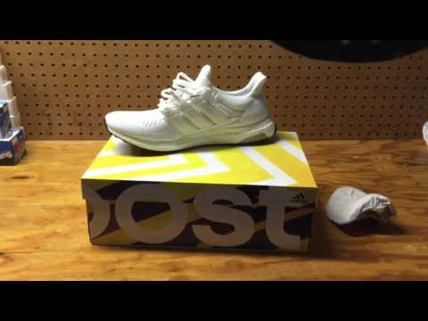 eaca33f3387 Adidas Ultra Boost White Review  Unboxing - YouTube