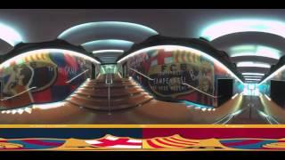 بالفيديو.. ملعب «كامب نو» يستعد للكلاسيكو