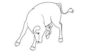 How to Draw a Bull / Как нарисовать быка
