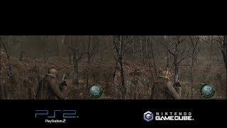 Resident Evil 4, Playstation 2 - Gamecube, comparison.