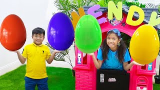 Wendy & Alex Pretend Play Surprise Egg Hunt & Learning Math with Kids Tablet App Game