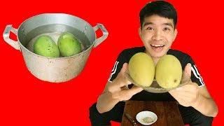 PHD   Thách Fan Ăn Xoài Luộc   Mango Fruit Boiled