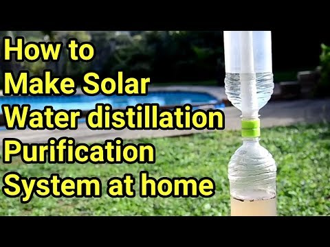 How to make | Solar Water Purifier / Distillation Syster with Plastic Bottles