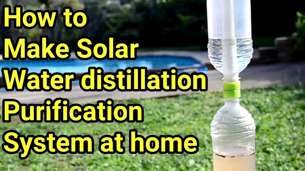 How To Make Solar Water Purifier Distillation Syster