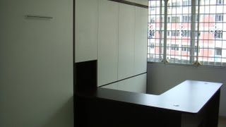 Hdb-homeoffice Workstation +guest Rm.teck Whye-blk116-hwb-v1080-s.single+wardrobe,table-hidden Bed