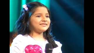 "Luciana canta ""Vaso de cristal"" | La Voz Kids Perú | Audiciones a ciegas | Temporada 3"