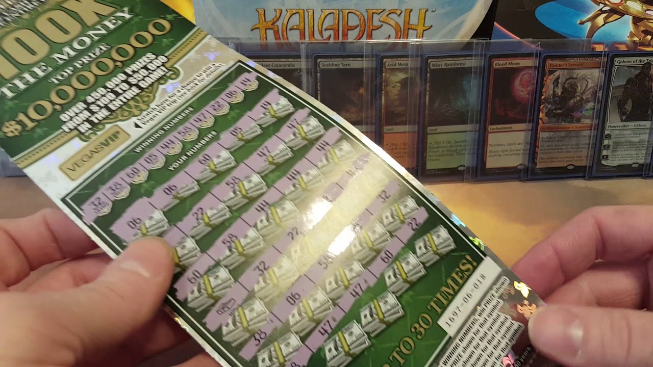 MTG Luck!!! Insane Lottery Hit 100X The Money VA Scratcher!!!