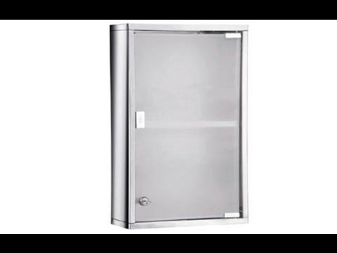 locking medicine cabinet stainless steel