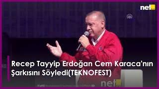 Recep Tayyip Erdoğan Cem Karaca'nın Tamirci Çırağı Şarkısını Söyledi(TEKNOFEST)