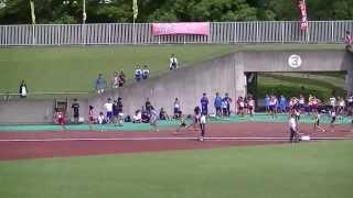 2013静岡県中学新人女子共通4×100mR予選2組 山本千夏 動画 29