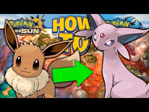HOW TO Evolve Eevee into Espeon in Pokemon Ultra Sun and Moon