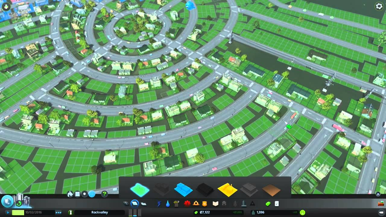 cities skylines how to build roundabout at start