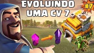 EVOLUINDO UMA CV 7 - INICIANDO OS MUROS CLASH OF CLANS #7