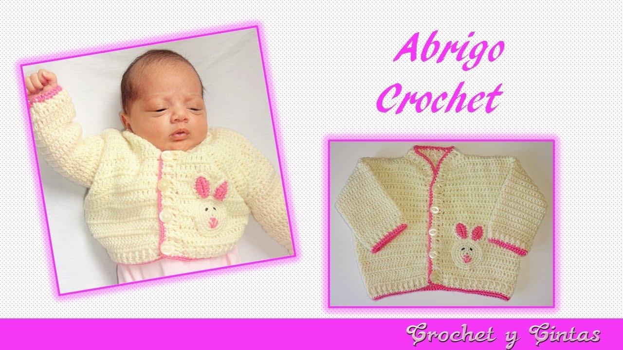 Abrigo unisex tejido a crochet para bebés - Parte 1 de 2 - YouTube