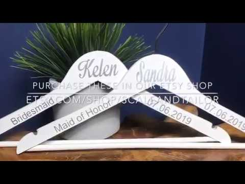DIY How To Make Personalized Hangers