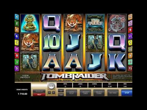 Видео-обзор игрового автомата Tomb Raider (Расхитительница Гробниц) от производителя Microgaming